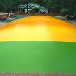 Trampolínové centrum u pavilonu Tropické království