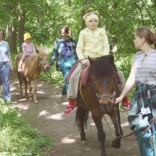 Horse riding at the children's zoo