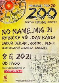 Benefiční online koncert Hrajeme pro 20 zoo